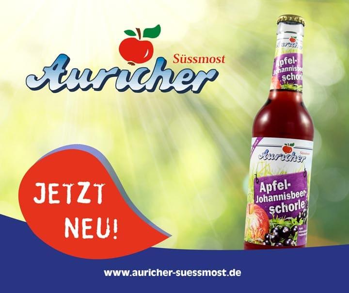 Unsere neue fruchtig-frische Apfel-Johannisbeer-Schorle