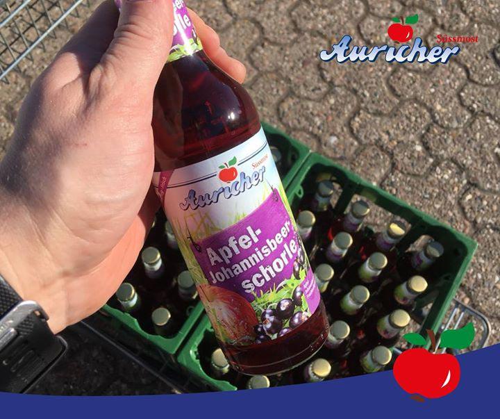 Erste Lieferung der Apfel-Johannisbeer-Schorle