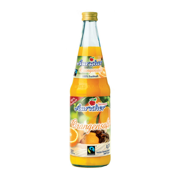Auricher Süssmost - Produkte - FAIRTRADE Orangensaft