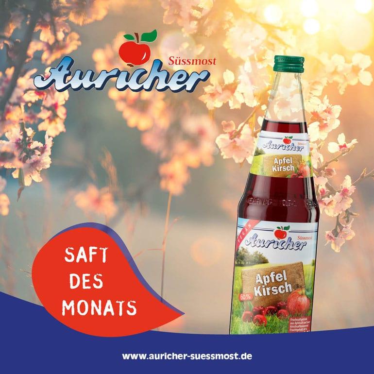 Saft des Monats: Apfel-Kirsch-Saft