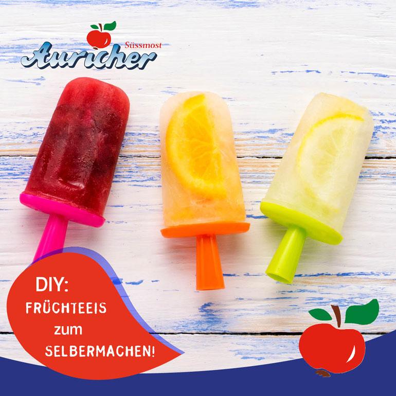 Rezept: Eis aus Auricher Säften
